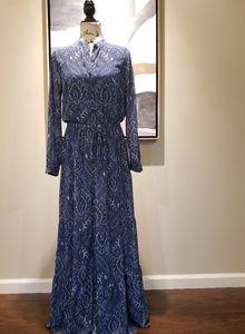NWT Michael Kors blue paisley maxi dress